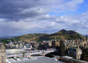 Arthur's Seat as seen from Edinburgh's centre
