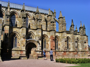 View of the exterior of Rosslyn Chapel