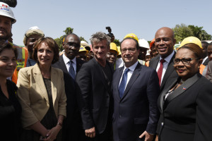 French president Francois Hollande in Haiti